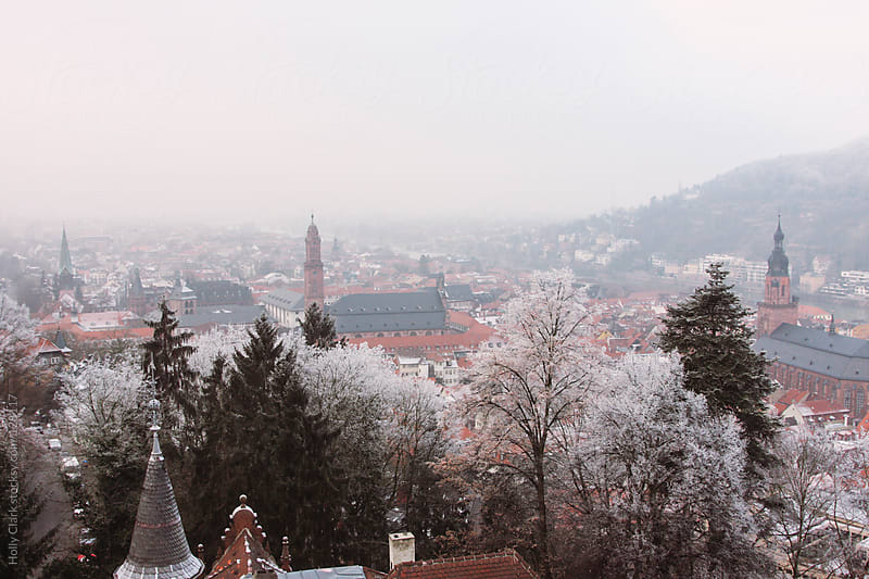 A medieval German city on a cold, winter day, Heidelberg, Baden- by Holly Clark for Stocksy United