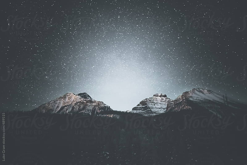 Stars over British Columbia by Luke Gram for Stocksy United