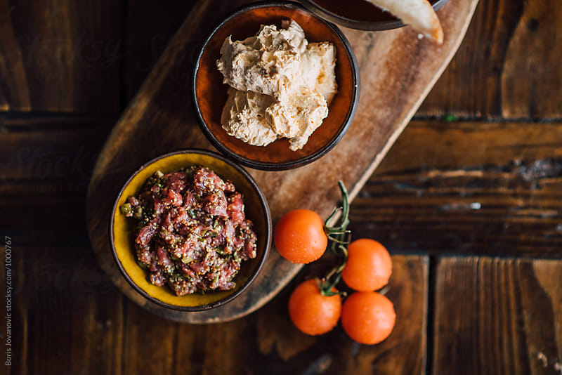 Delicious salsa with  eggplant and tomato  by Boris Jovanovic for Stocksy United