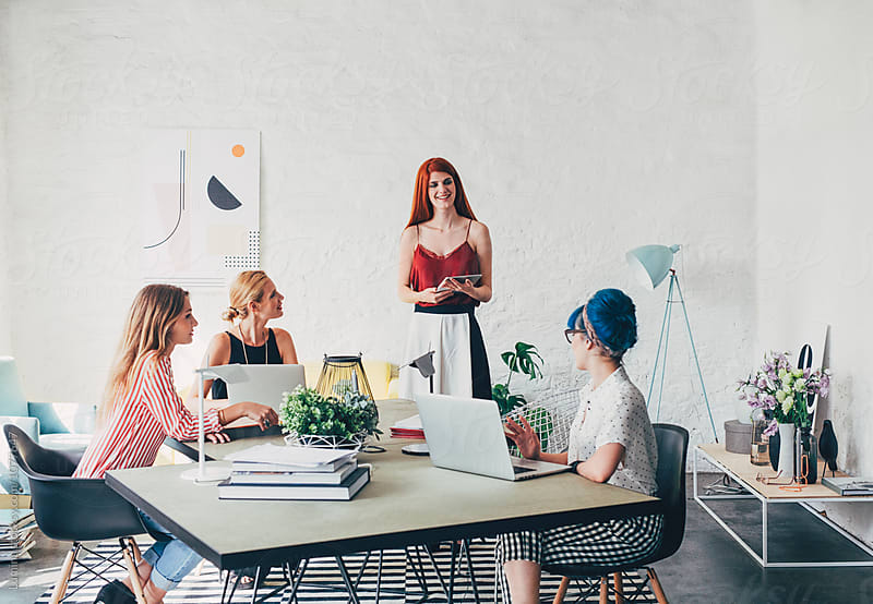 Businesswomen on a Meeting by Lumina for Stocksy United