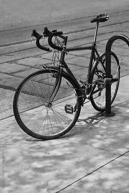 Vintage Bicycle Parked in Manharran Streets by VICTOR TORRES for Stocksy United