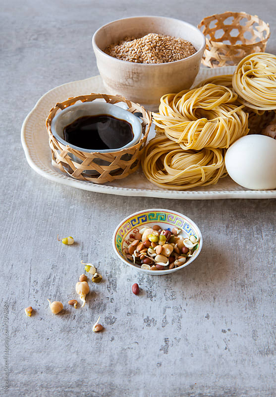 Chinese cooking ingredients by Nadine Greeff for Stocksy United