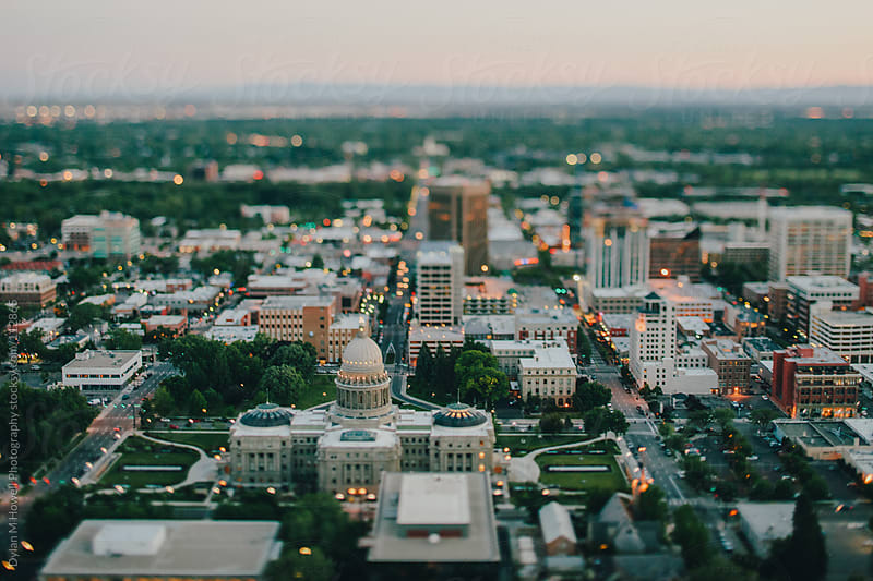 Boise by helicopter by Dylan M Howell Photography for Stocksy United