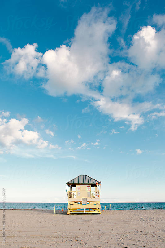 Beach on Key Biscayne, Florida by Stephen Morris for Stocksy United