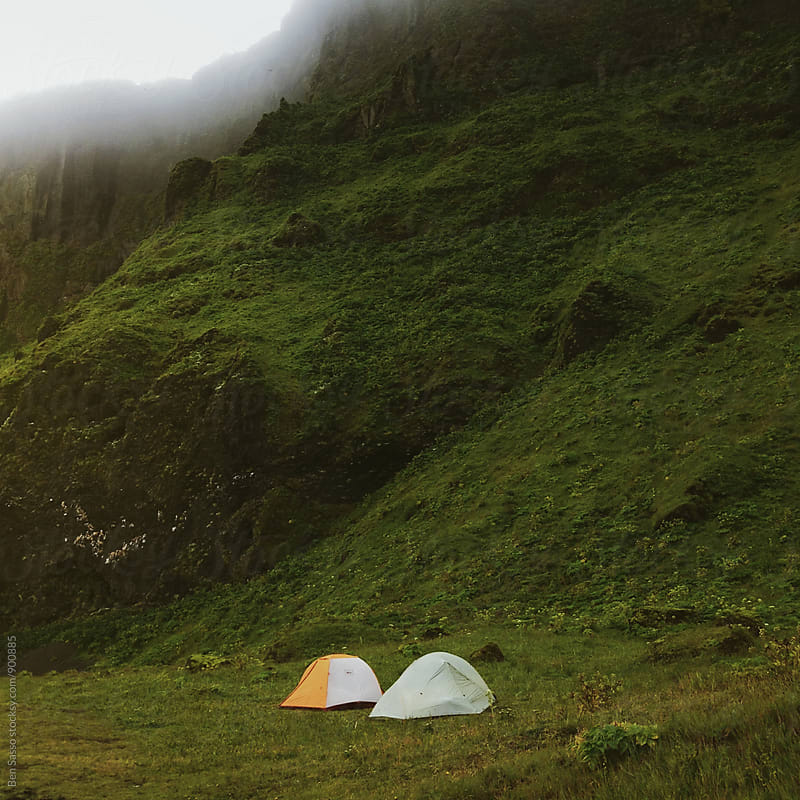 Camping in Iceland by Ben Sasso for Stocksy United