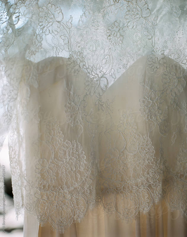 wedding dress detail by Kirill Bordon photography for Stocksy United