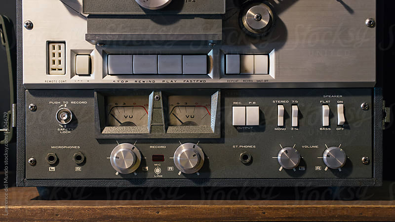 Old school stereo audio entertainment system.