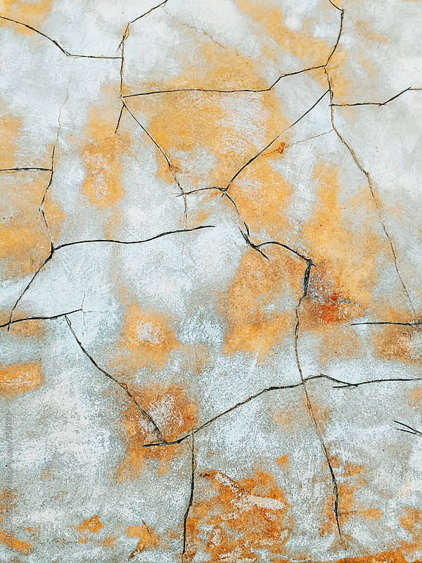 Cracks in Cement Floor Background by Julien L. Balmer for Stocksy United