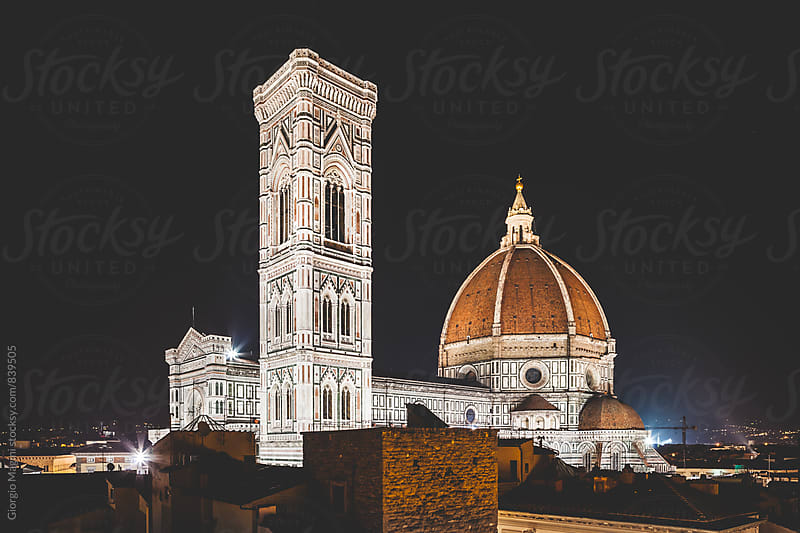 Florence Cathedral by Night, Italian Renaissance Architecture by Giorgio Magini for Stocksy United
