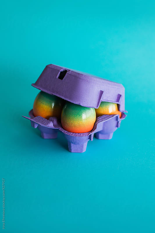 Rainbow eggs by Irina Efremova for Stocksy United