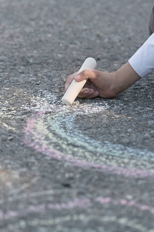 drawing with chalk by Gillian Vann for Stocksy United
