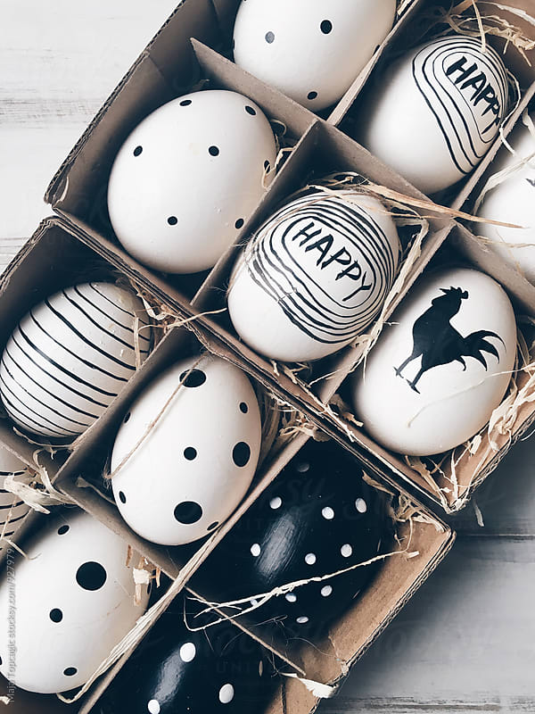 Handmade easter eggs by Maja Topcagic for Stocksy United