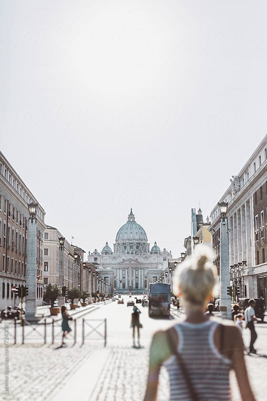Tourist in the Vatican City by Lumina for Stocksy United