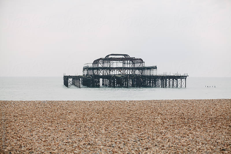 Burnt Pier in Brighton by kkgas for Stocksy United