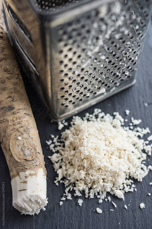 Food: Grated Horseradish by Ina Peters for Stocksy United