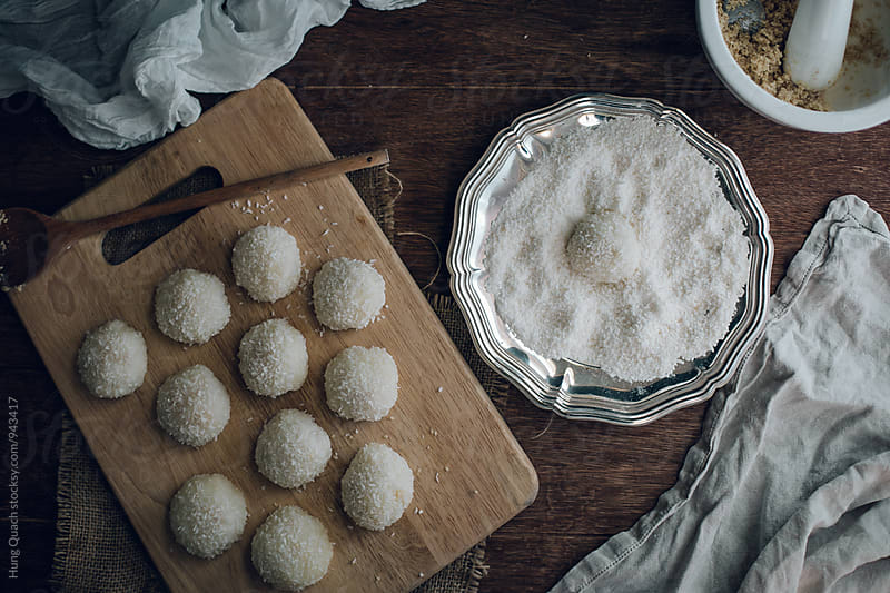 Sweet Coconut Dumplings by Hung Quach for Stocksy United