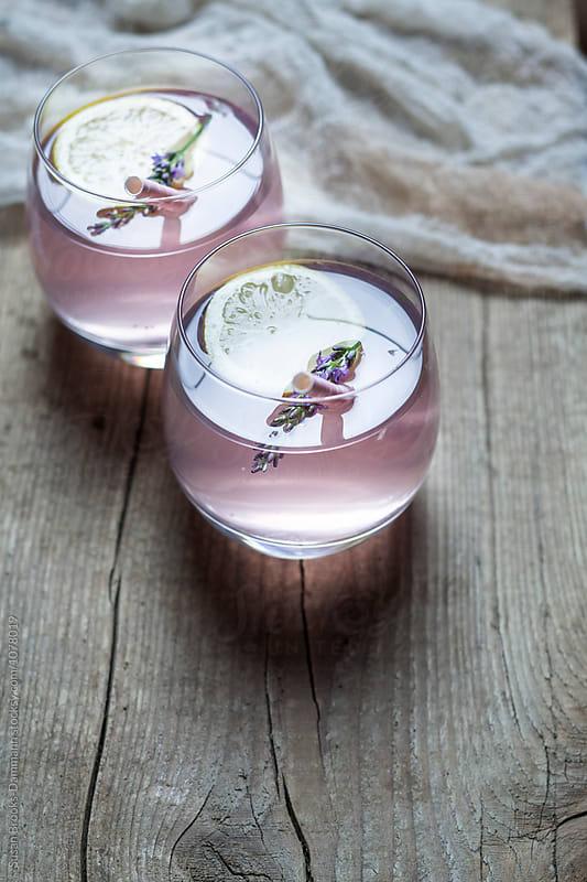 Homemade Lavender Lemonade by Susan Brooks-Dammann for Stocksy United