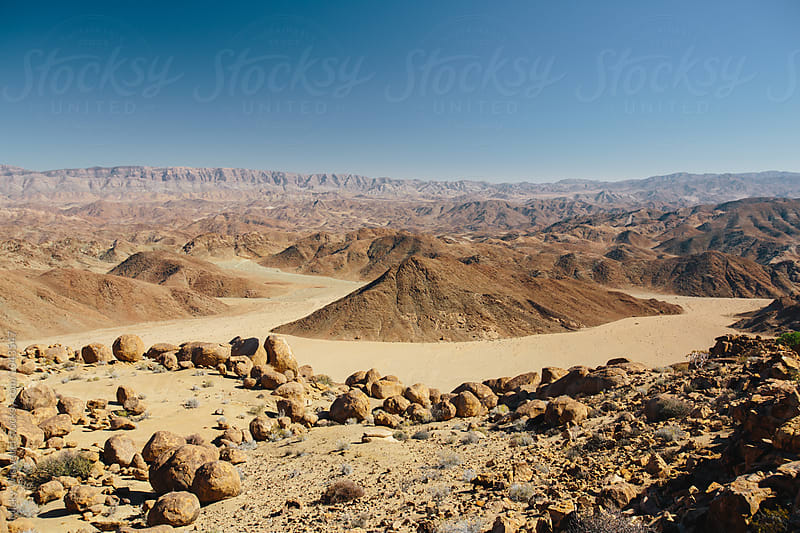 Expansive view of a scenic desert landscape by Micky Wiswedel for Stocksy United