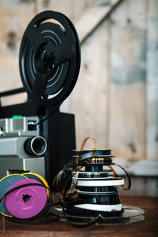 Super 8 film reels and projector by kkgas for Stocksy United