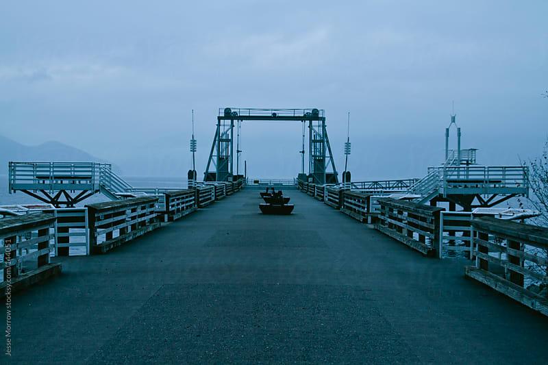 Empty Pier  by Jesse Morrow for Stocksy United