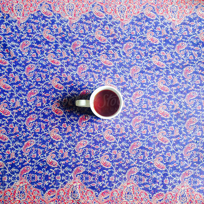 Tea on patterns by Sophia Hsin for Stocksy United