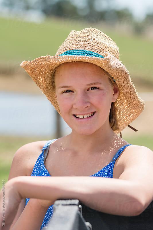 teenage farm girl by Gillian Vann for Stocksy United