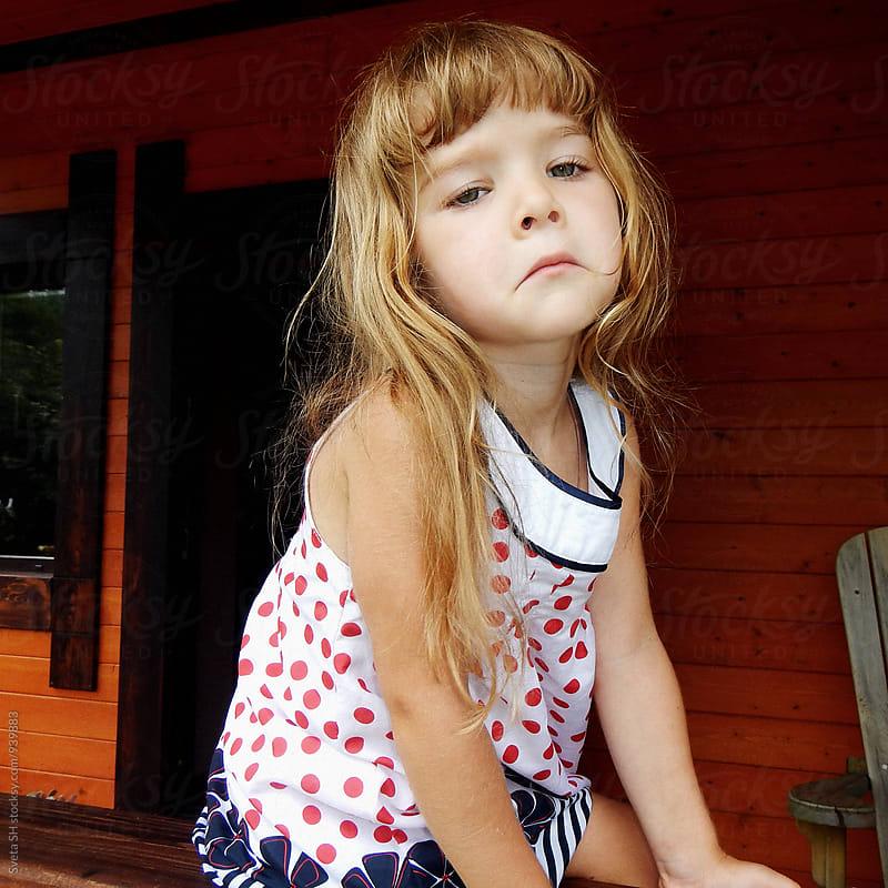 Portrait of the little girl by Svetlana Shchemeleva for Stocksy United