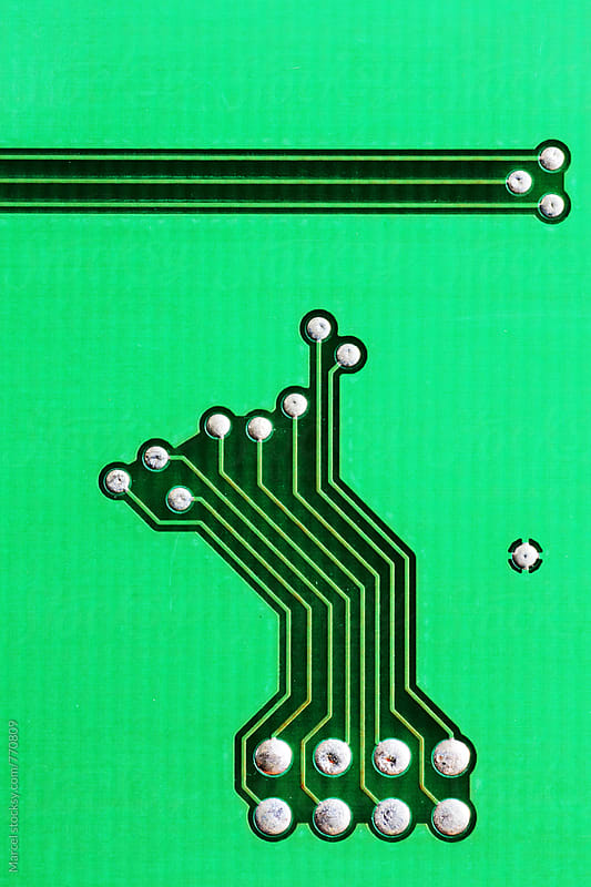 Circuit board macro art by Marcel for Stocksy United