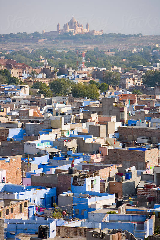 The blue city of Jodphur. Rajasthan. India. by Hugh Sitton for Stocksy United