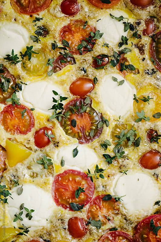Tomato Ricotta Frittata by Cameron Whitman for Stocksy United