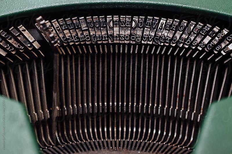 Old Typewriter Type Mechanism by Nemanja Glumac for Stocksy United