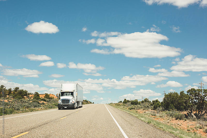 Truck on the road by michela ravasio for Stocksy United