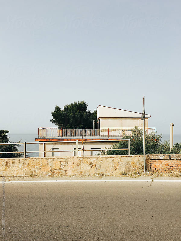 Mediterranean Seaside House in Sicily Italy by Julien L. Balmer for Stocksy United
