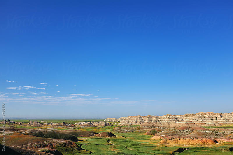 View of contrasting environments in the Badlands of South Dakota by David Smart for Stocksy United
