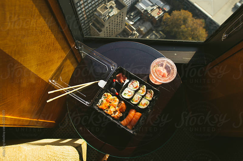 Takeaway sushi by Alita Ong for Stocksy United