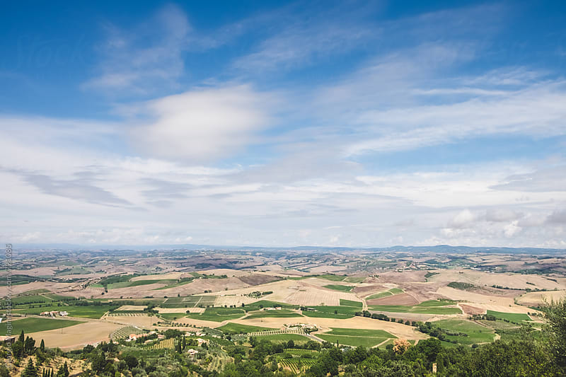Landscape of the Val d'Orcia in Tuscany, Italy by Giorgio Magini for Stocksy United