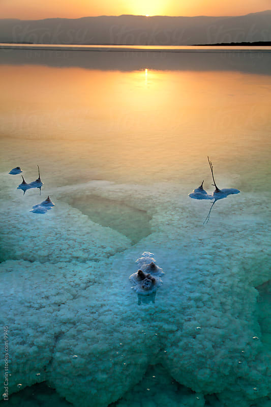 Sunrise In the Dead Sea - Tranquil Dawn by Eldad Carin for Stocksy United