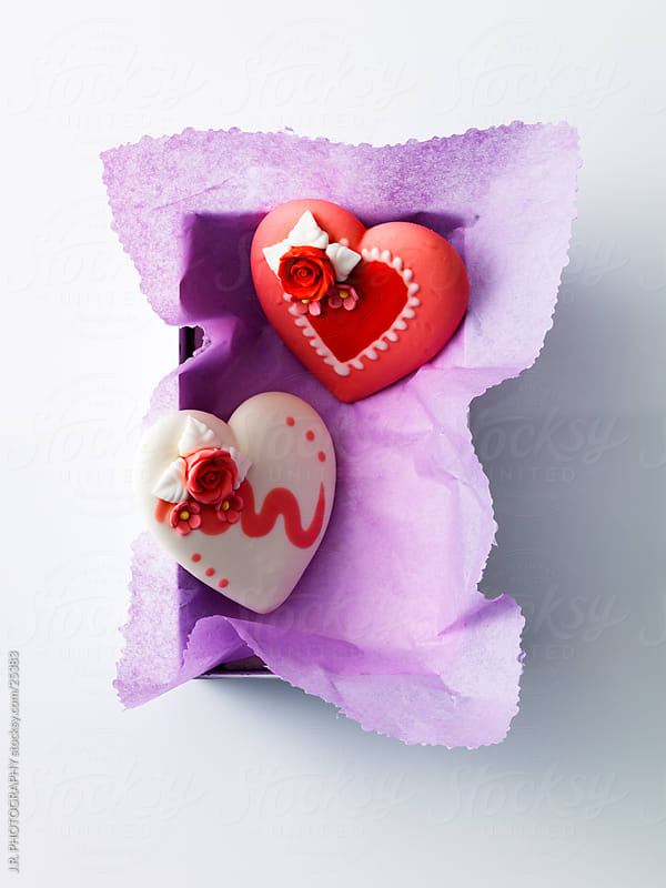 Love heart cake by J.R. PHOTOGRAPHY for Stocksy United