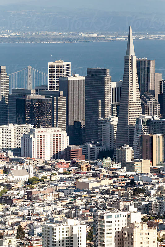 Aerial view of San Francisco  by James Tarry for Stocksy United