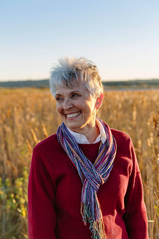 Senior Woman Portrait by Raymond Forbes LLC for Stocksy United