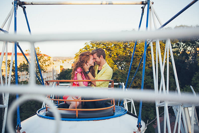 Ginger Couple on a Ferris Wheel by Lumina for Stocksy United