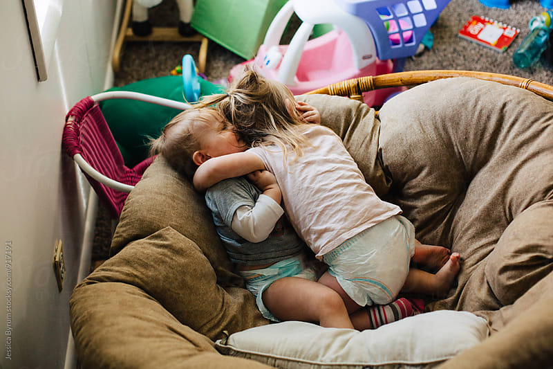 Sibling Snuggles by Jessica Byrum for Stocksy United
