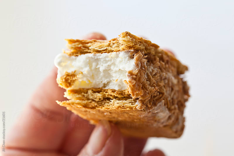 Coconut Ice Cream Sandwich by Jill Chen for Stocksy United