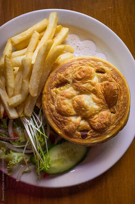 Pie And Chips by Rowena Naylor for Stocksy United