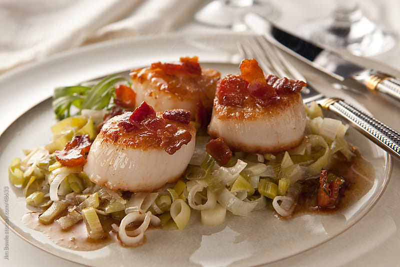 Seared Scallops by JIm Bowie for Stocksy United