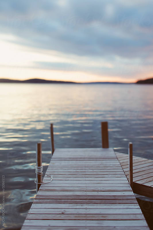 Dock At Sunset In Northern Michigan by ALICIA BOCK for Stocksy United