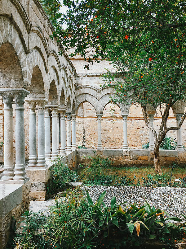 Italy - Antique Stone Arches in Small Park by Julien L. Balmer for Stocksy United