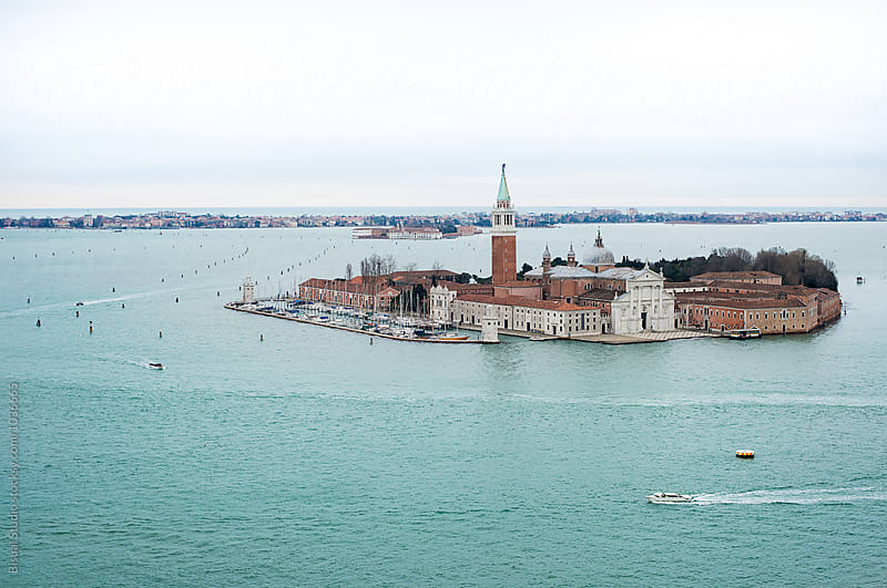 View of San Giorgio Maggiore from Campanile by Bisual Studio for Stocksy United
