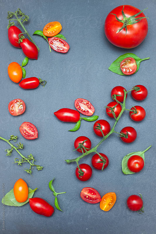 Various types of tomatoes by Emoke Szabo for Stocksy United