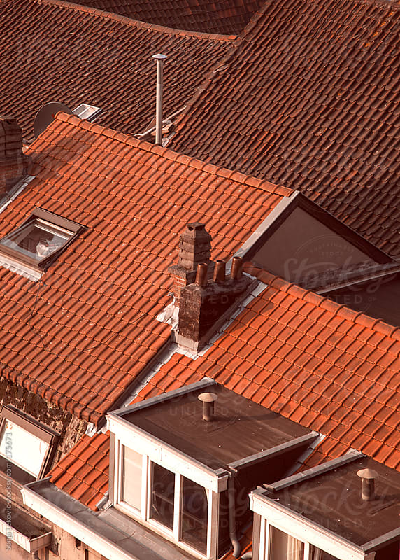 house roofs background by Sonja Lekovic for Stocksy United